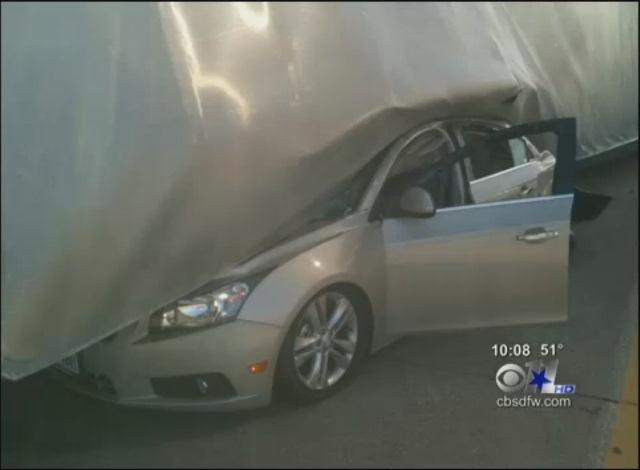 Chevy Cruze Semi Crash